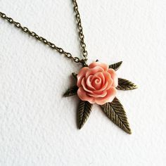 Marijuana Necklace rose,cannabis jewelry,bronze,marijuana jewelry,marijuana gift pink weed cannabis Brass necklace vintage SMNE-0003-BCO