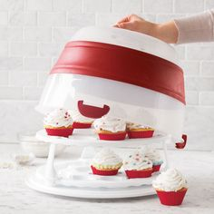 Collapsible Cupcake & Cake Carrier | Sur La Table. I have this and think it's the best thing EVER!!