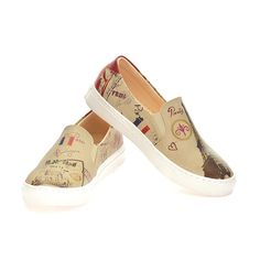 """Goby Women's Shoes ''Eiffel & Paris Print Slip-On Sneaker"""" VN4002 Memory Foam, Women's Shoes, Canada, Slip On, Paris, Sneakers, Fashion, Tennis, Moda"""