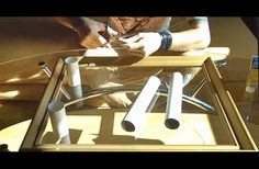 He Cuts Cardboard Tubes Into Strips. An Old Frame And Some Spray Later, It's A Masterpiece