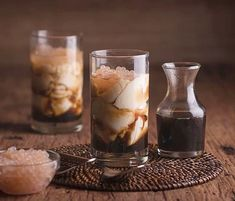 Perfect way to start your day! Locally known as taho made up of silken tofu and tapioca pearls with a hint of vanilla syrup. Resorts World Manila, Tapioca Pearls, Vanilla Syrup, Tofu, Glass Of Milk, Desserts, Instagram, Tailgate Desserts, Deserts