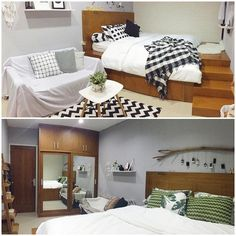 Renovasi Ajaib Rumah Tipe 36 jadi 84, Ini Triknya! Room Inspiration, Sweet Home, House Design, How To Plan, Architecture, Bed, Furniture, Save Image, Home Decor