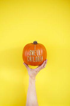 DIY Hocus Pocus Quote Pumpkins