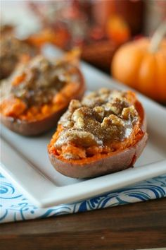 twice baked sweet potatoes. Nice change for Thanksgiving!