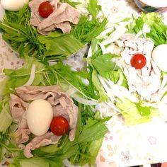 昨日の夜ご飯です♪(´ε` ) サラダうどん!! 野菜が多くて見えんけど下にうどんくんたちが待ち構えてます( ̄▽ ̄) 野菜たっぷりでヘルシーだったけぇ軽く食べれました! - 4件のもぐもぐ - サラダうどん by yukisukennnn
