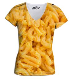 This is a gross picture. But I really want it!! Mac N' Cheese Women's V-Neck Tee