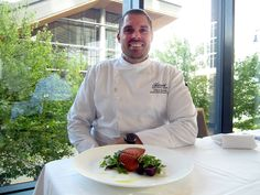 The Fairmont Pacific Rim's Atticus Garant grew up fishing, and he now serves Ocean Wise seafood regularly, such as sockeye salmon.