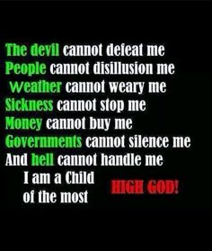 I am a child of the most high God...!;) ✌perfect!