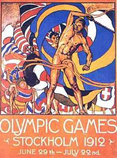 Poster of the 1912 Olympic Games - Stockholm, Sweden
