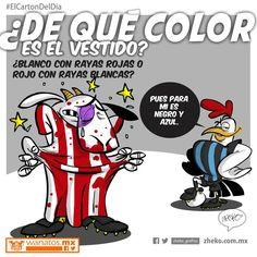 """""""De que color es el vestido"""" #ElCartonDelDia #zheko_grafico #DisfrutenloConLeche"""