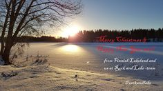 Rent cottage, glamping, fishing in Finland, birdwatching in Finnish Lakeland nature = Rock and Lake: Merry Christmas and Happy New Year 2017!