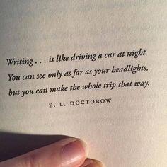 Great writing analogy...
