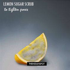 A lemon and sugar scrubthat leaves your skin soft and insanely smooth. Lemon helps to even out skin tone, it a natural astringent thathelps totighten pore...