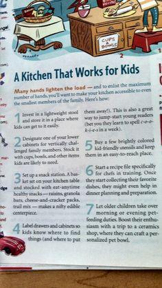 Kid friendly kitchen