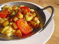 Gebratener Blumenkohl mit Kartoffeln