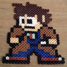 Doctor Who (David Tennant) Megaman style perler beads by robozippy