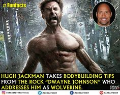 Did you know?  #TheWolverine #TheRock #DwayneJohnson #HughJackman #Bodybuilding #Muscles #Fitness