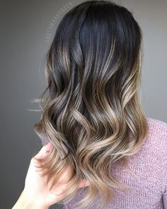 Dark Brown Hair with Highlights 9