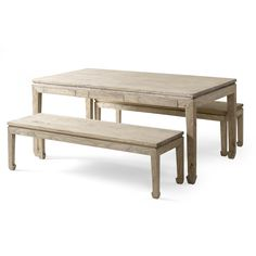 Shimu Chinese CountryDining Table and 2 Benches | Wayfair.co.uk