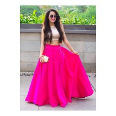 Buy Pink And Golden Taffeta Silk Solid Lehenga With Crop Top online Indian Gowns Dresses, Indian Fashion Dresses, Indian Designer Outfits, Indian Outfits, Choli Designs, Lehenga Designs, Blouse Designs, Long Skirt And Top, Lehnga Dress