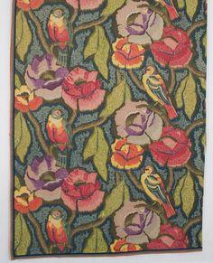 Minnie McLeish printed cotton panel, c.1920-1925