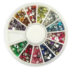 1-Set Goodly Popular 3D Acrylic Nails Art Wheel Tools Kit Colorful Decor Full Design Color Style Glitter Heart ** Want additional info? Click on the image.