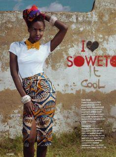 Mid calf skirt #africaninspired