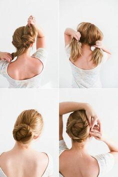 chignon facile à faire avec ses cheveux