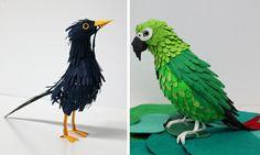 Incríveis esculturas feitas com papel colorido