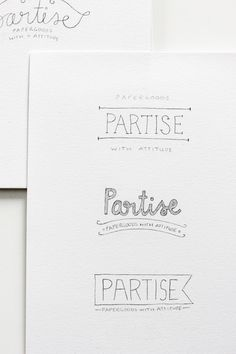Partise - Logo concepts by Claire Dalgliesh of Fellow Fellow