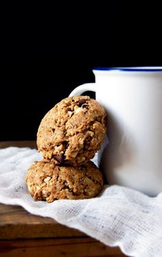 Hazelnut Oatmeal Chocolate Chip Cookies