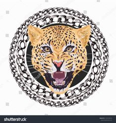 Find leopard roaring in chain lace circle illustration stock vectors and royalty free photos in HD. Explore millions of stock photos, images, illustrations, and vectors in the Shutterstock creative collection. of new pictures added daily. Art Drawings Beautiful, Dope Wallpapers, Desenho Tattoo, Illustration, Tattoo Stencils, Vintage Louis Vuitton, Royalty Free Photos, Art Boards, Lion Sculpture