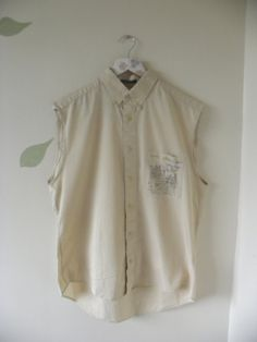 Upcycled shirt with collar. by SophiecInchley on Etsy, £10.00
