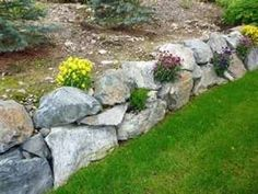 Simple Landscaping Around Deck - Landscaping With Rocks Edging - - Landscaping Layout Presentation - Landscaping Front Yard Retaining Wall Planting Flowers, Rock Wall Gardens, Garden, Backyard Landscaping, Lawn And Garden, Garden Wall, Landscaping With Boulders, Landscaping With Rocks, Landscaping Rock