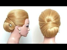 Bridal Wedding Updo. Hairstyle For Long Hair Tutorial - YouTube