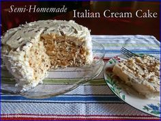 Semi-Homemade Italian Cream Cake. This recipe is fail-proof and always comes out tasting fabulous!