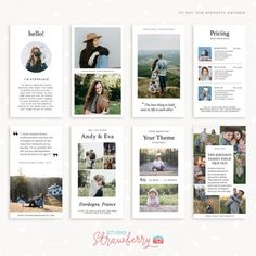 Get access to our entire template library – Strawberry Kit Photoshop Elements, Adobe Photoshop, France Photography, Photography Templates, Color Profile, Instagram Story Template, Collages, Commercial, Blog