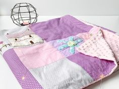 Pink patchwork bedcover. Tilda style.   Etsy