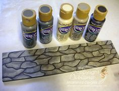 How to paint a cobblestone path: acrylic paints #decoartprojects #decorativepainting