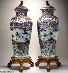 Glazes For Pottery, Ceramic Pottery, Ceramic Art, Japanese Porcelain, Japanese Pottery, Japanese Tea Set, Japanese Vase, Fu Dog, Big Vases