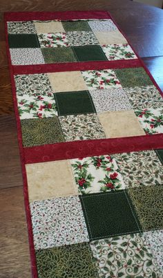 Quilted Christmas Table RunnerQuilted Table by WarmandCozyQuilts
