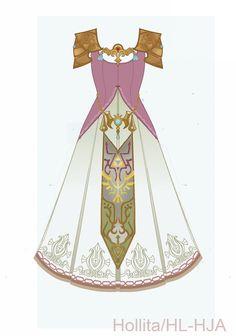 Zelda (Twilight Princess) Cosplay design draft by Hollitaima.deviantart.com on @deviantART