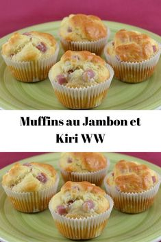 Muffins au Jambon et Kiri WW No Salt Recipes, Ww Recipes, Batch Cooking, Cooking Time, Weight Watchers Kuchen, Weigh Watchers, Brunch, Light Cakes, Cake Factory