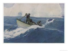 The Chase of the Bow-Head Whale Giclee Print by Clifford W. Ashley at Art.com