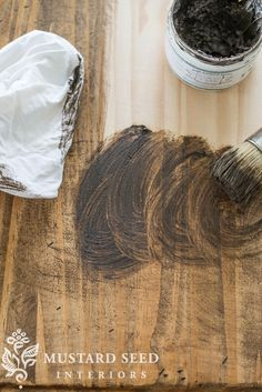 add instant age to raw wood with Miss Mustard Seeds Milk Paint Antiquing Wax