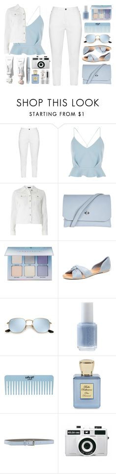 """""""summer whites ts 5/23"""" by countrycousin ❤ liked on Polyvore featuring Zhenzi, River Island, Dorothy Perkins, Topshop, Anastasia Beverly Hills, Essie, Bella Bellissima, Giordano Frangipani, Holga and Sephora Collection"""
