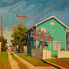 """Painting. Rene Wiley """"Turquoise House"""""""