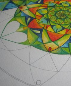 Drawing mandalas