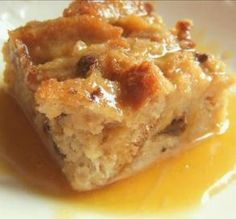 "Bread Pudding with Bourbon Sauce: ""This is absolutely delicious! I made it using a 16-ounce loaf of cinnamon raisin bread instead of French bread, and it was so good. The bourbon sauce was to die for!"" -ItalianMomof2"