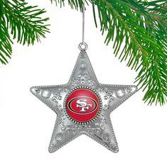 San Francisco 49ers Star Ornament - Silver